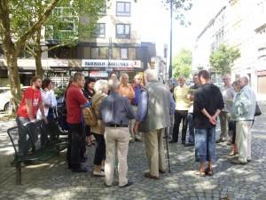 Infostand am Hansemannplatz