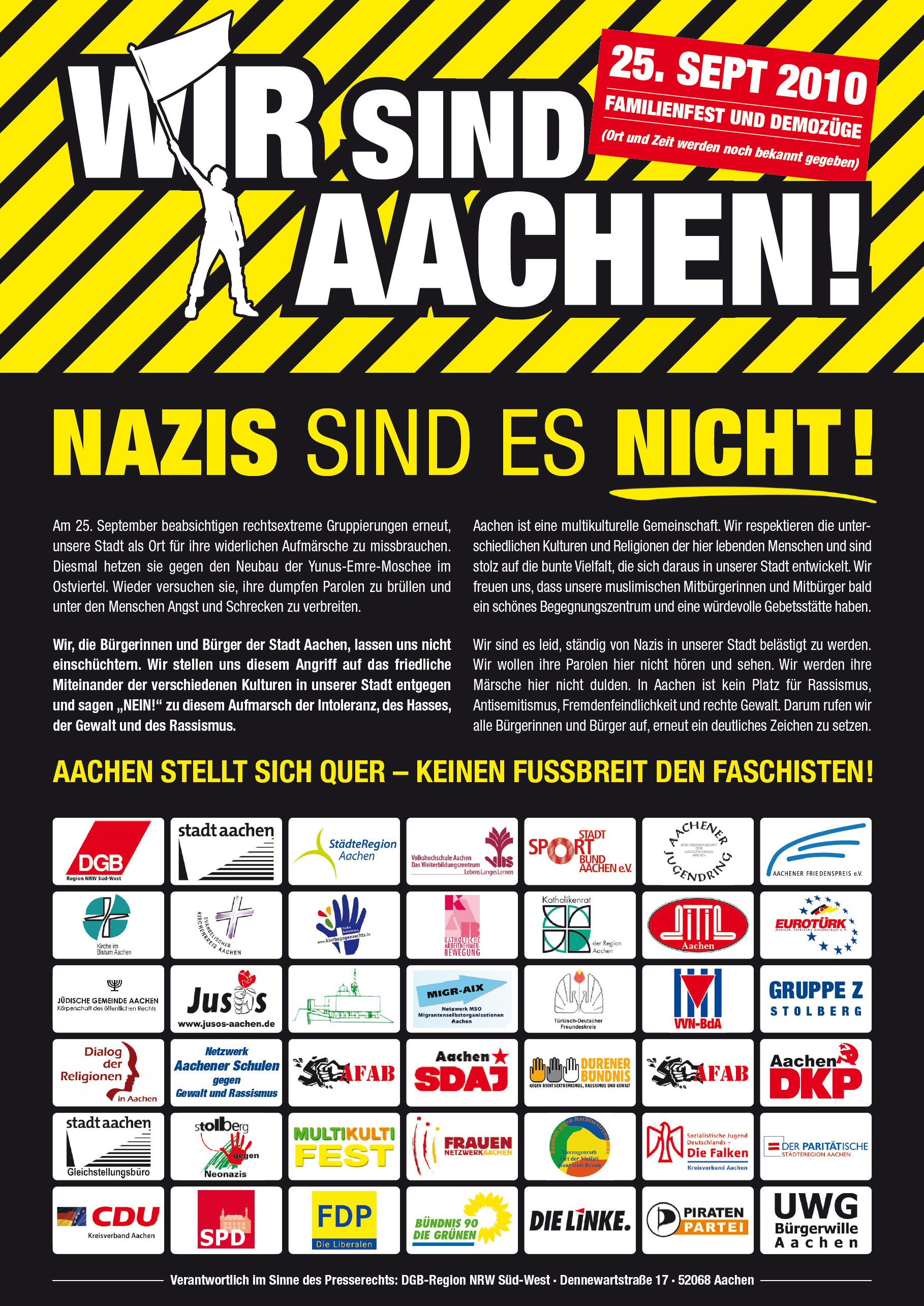 Wir sind Aachen, Nazis sind es nicht!