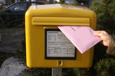 Einfach einwerfen, die Post erledigt den Rest!