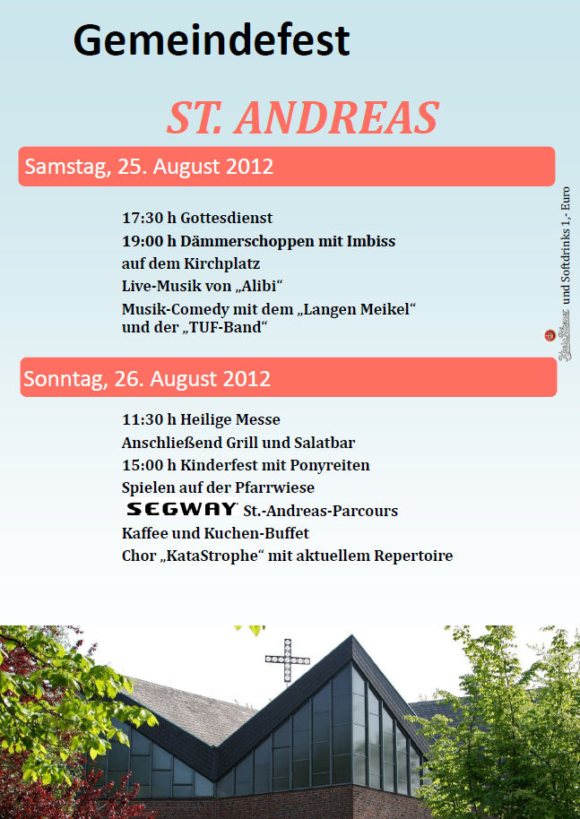 Gemeindefest St. Andreas 25./26.8.2012